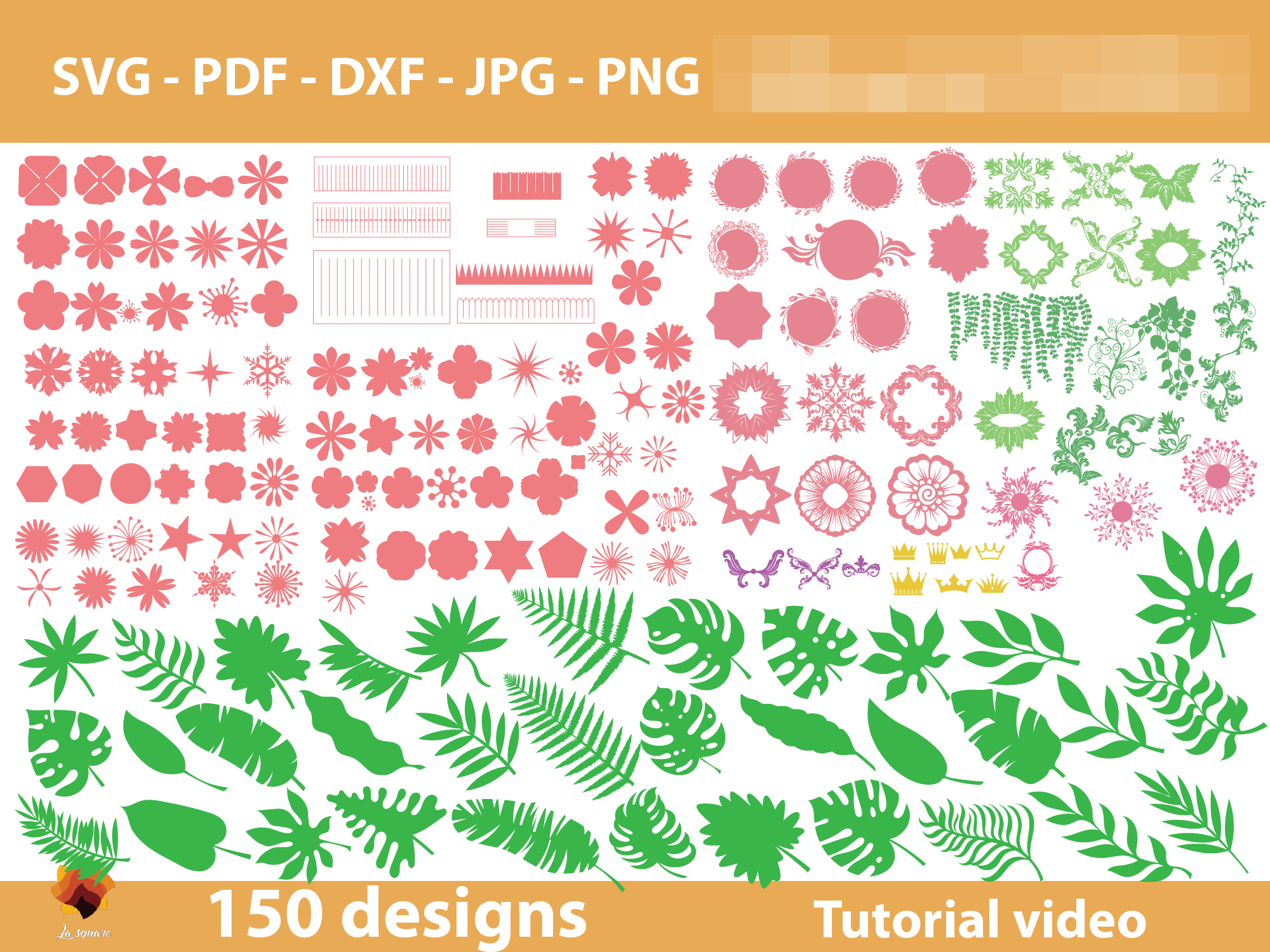 Download Free 130 Paper Flowers Center Templates Graphic By Lasquare Info for Cricut Explore, Silhouette and other cutting machines.