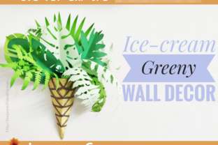 Print on Demand: Paper Ice-Cream Tropical Templates Graphic 3D SVG By lasquare.info