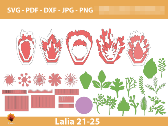 Download Free Lalia 21 25 Giant Paper Flowers Graphic By Lasquare Info for Cricut Explore, Silhouette and other cutting machines.