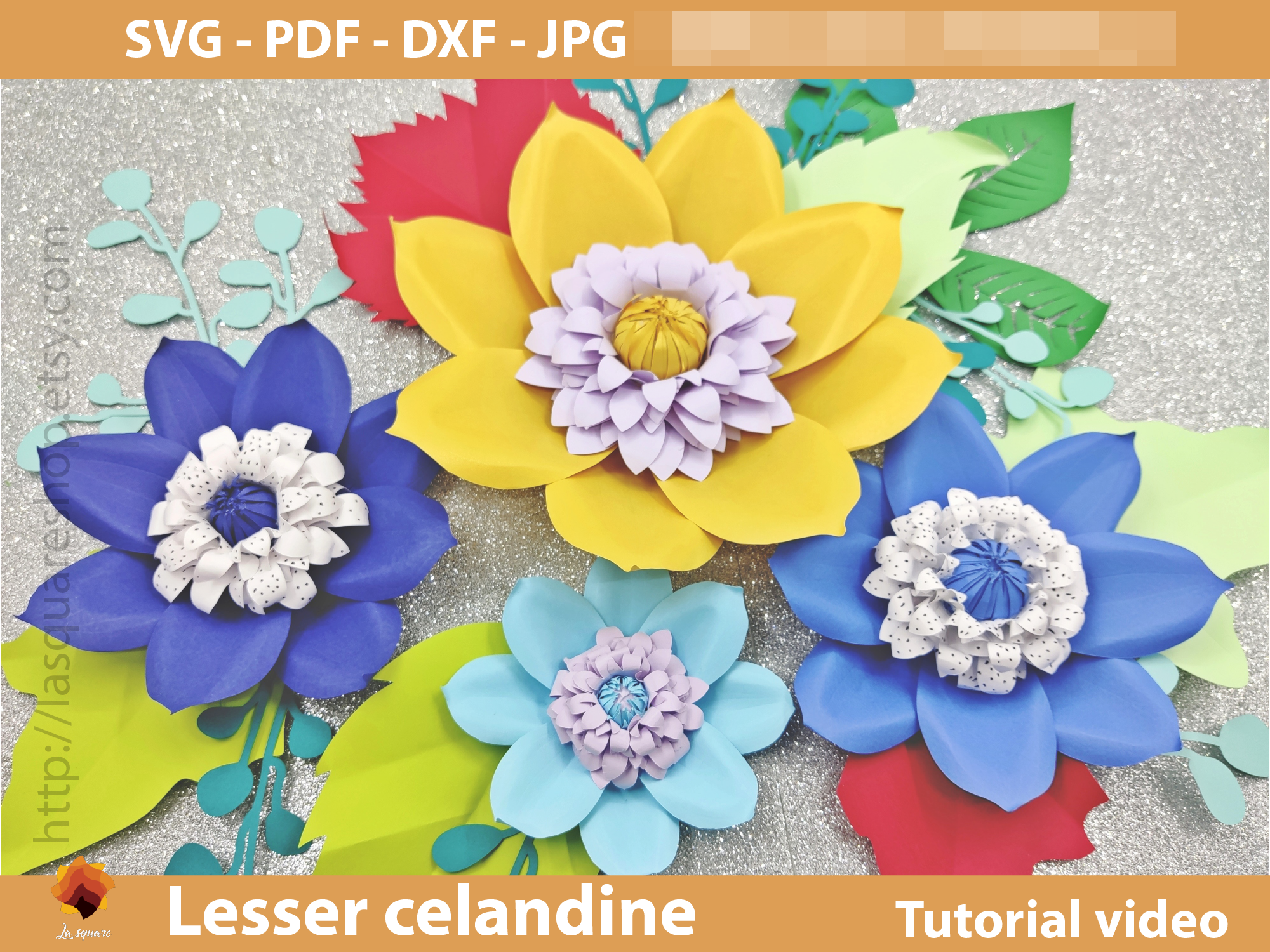 Download Free Lesser Celandine Paper Flower Template Graphic By Lasquare Info for Cricut Explore, Silhouette and other cutting machines.