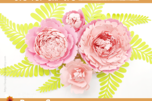 Print on Demand: Giant Peony Paper Flowers Template Graphic 3D Flowers By lasquare.info