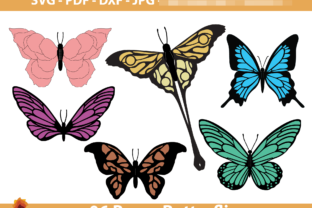 Print on Demand: 06 DIY Paper Butterfly Templates Graphic Crafts By lasquare.info