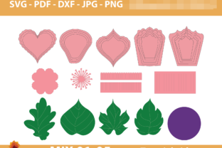 Print on Demand: 05 Mix Paper Flowers Templates Graphic 3D Flowers By lasquare.info