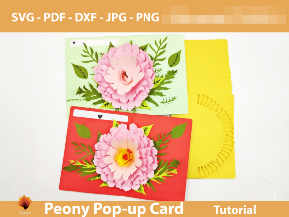 Download Free 4 Diy Pop Up Card Designs Graphics for Cricut Explore, Silhouette and other cutting machines.