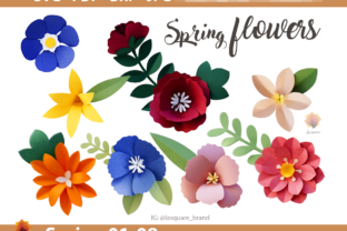 Print on Demand: 08 Spring Paper Flowers Templates Graphic 3D Flowers By lasquare.info