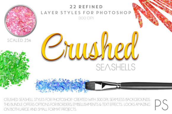 Crushed Seashells Graphic Layer Styles By FlyGirlMedia