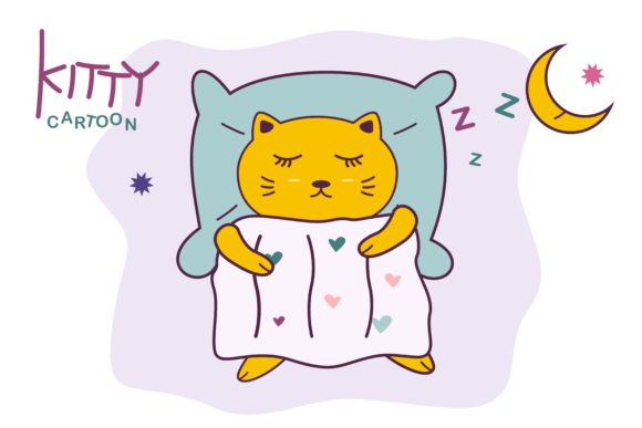 Cute Kitty Cartoon Graphic Illustrations By edywiyonopp