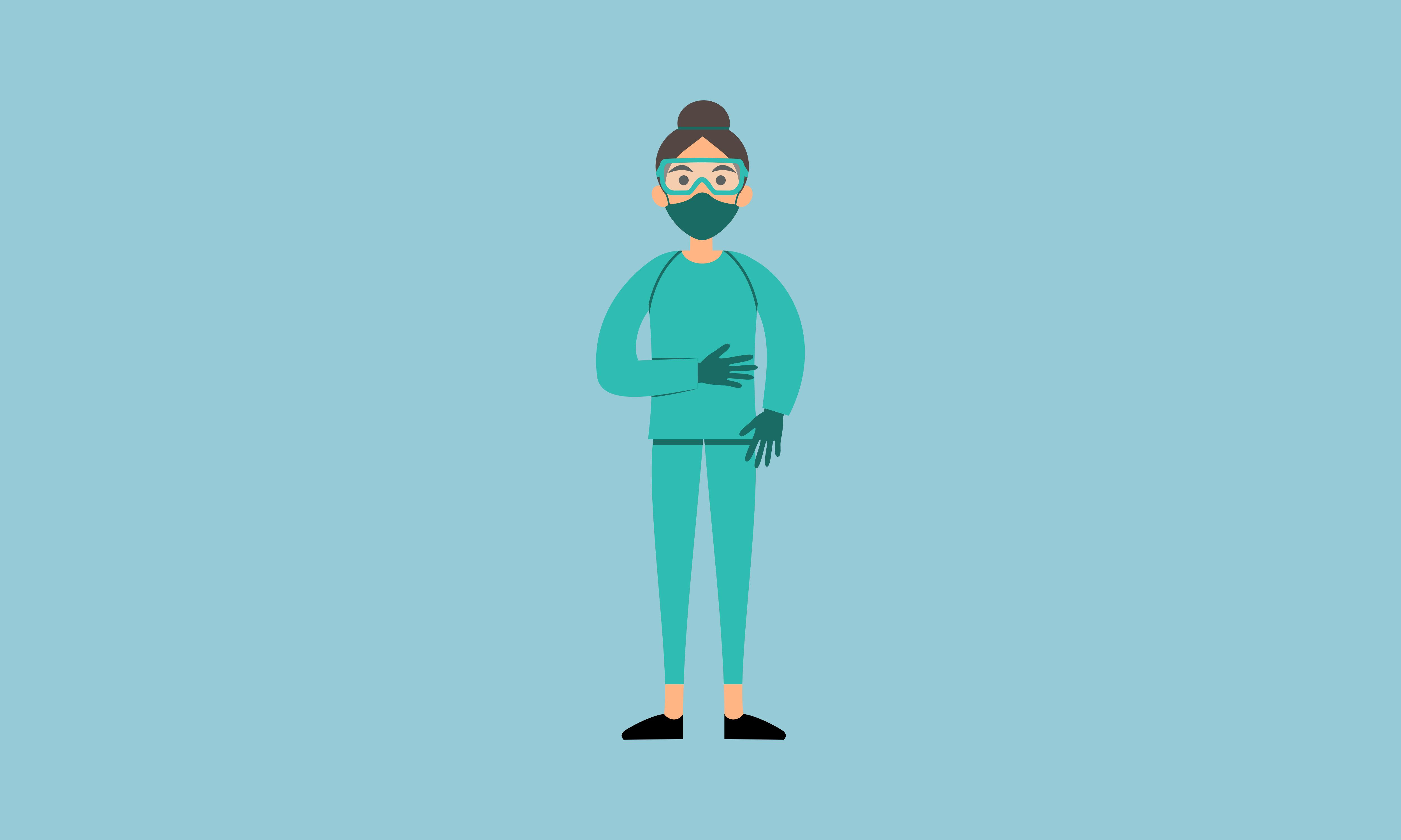 Download Free Doctor Wear Mask In Different Character Graphic By 2qnah for Cricut Explore, Silhouette and other cutting machines.