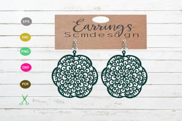 Earrings Template Graphic Crafts By Scmdesign