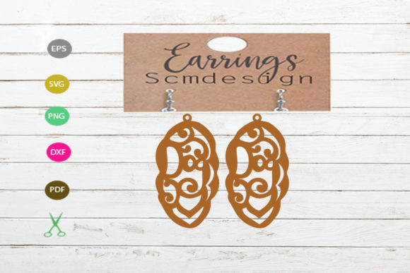 Download Free Earrings Template Graphic By Scmdesign Creative Fabrica for Cricut Explore, Silhouette and other cutting machines.