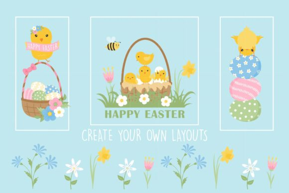 Download Free Easter Chicks Clipart 41 Graphics Graphic By Tl Digital for Cricut Explore, Silhouette and other cutting machines.
