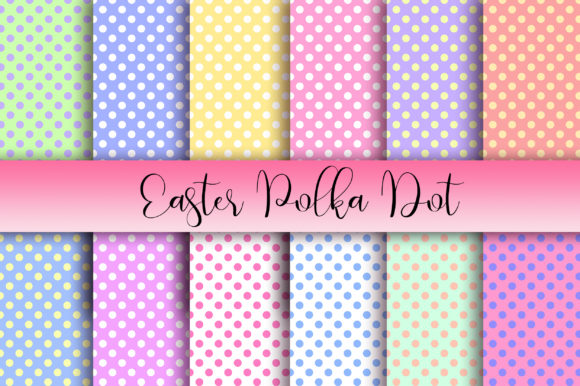 Easter Polka Dot Background Graphic Backgrounds By PinkPearly