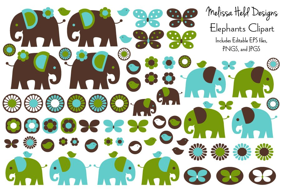 Download Free Elephant Clipart Graphic By Melissa Held Designs Creative Fabrica for Cricut Explore, Silhouette and other cutting machines.