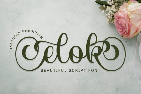 Print on Demand: Elok Script & Handwritten Font By Doehantz Studio