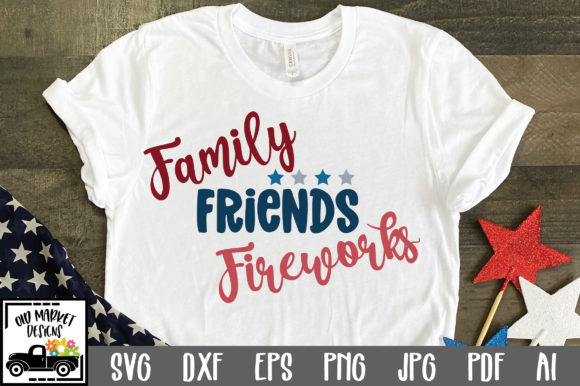 Print on Demand: Family Friends Fireworks Graphic Crafts By oldmarketdesigns