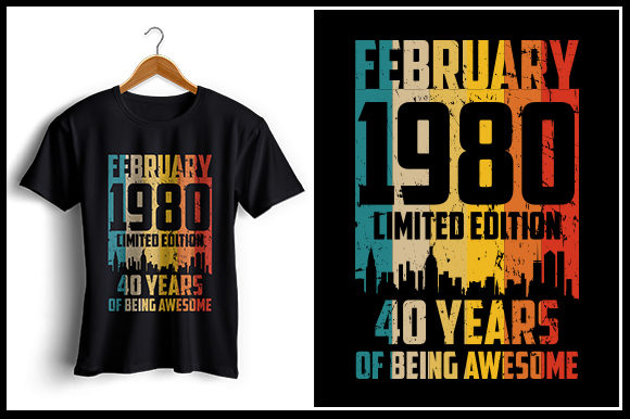 Download Free August 1981 Tshirt Design Graphic By Zaibbb Creative Fabrica for Cricut Explore, Silhouette and other cutting machines.