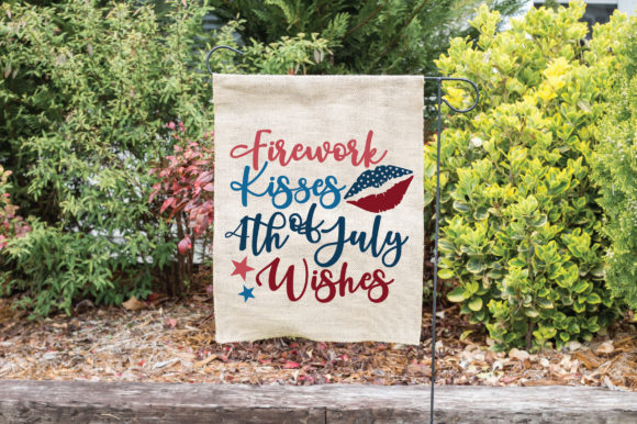 Print on Demand: Firework Kisses 4th of July Wishes Graphic Crafts By oldmarketdesigns - Image 4