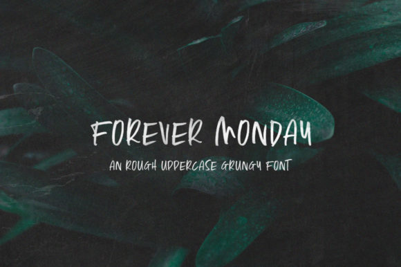 Print on Demand: Forever Monday Display Font By Salt & Pepper Designs