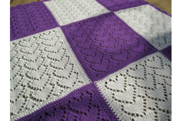Hearts Baby Blanket Pattern Graphic Knitting Patterns By wunderfulwool