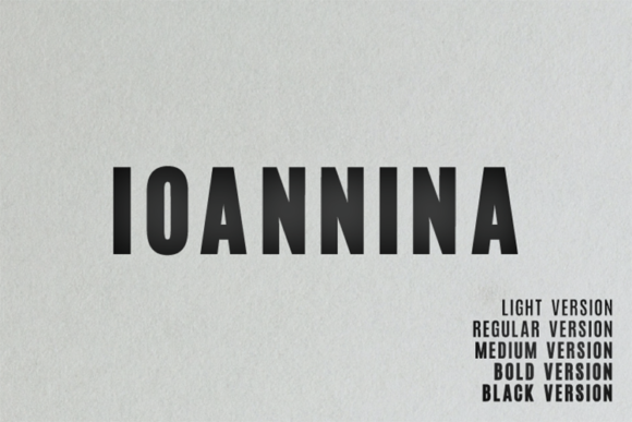 Print on Demand: Ioannina Family Sans Serif Font By Shanaya Creative
