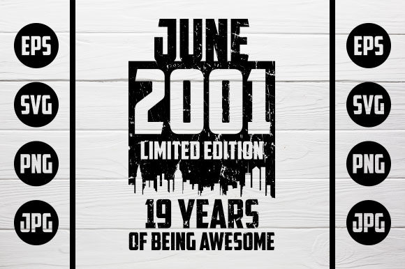 Download Free June 2001 Tshirt Design Graphic By Zaibbb Creative Fabrica for Cricut Explore, Silhouette and other cutting machines.