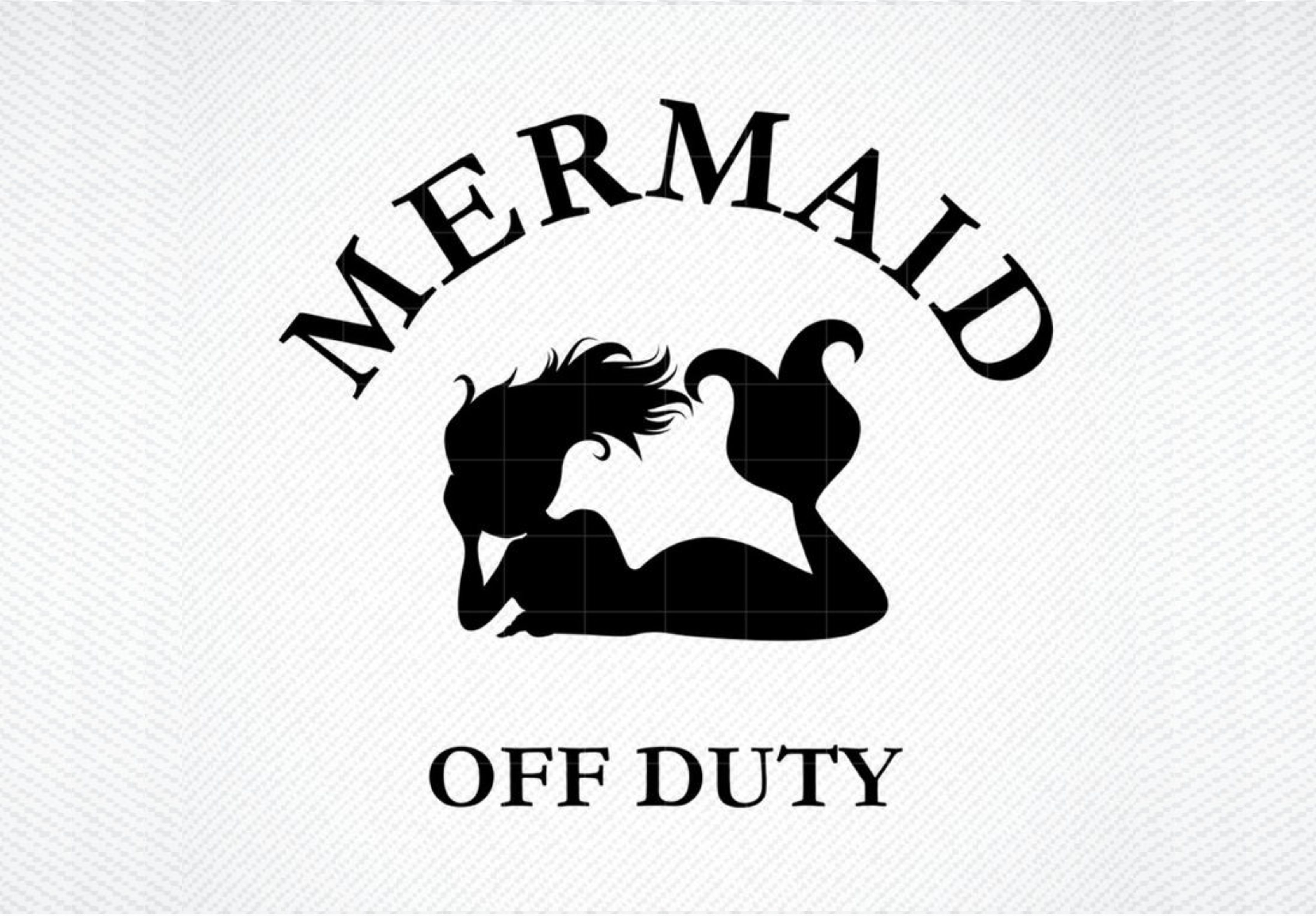 Download Free Mermaid Off Duty Graphic By Svg Den Creative Fabrica for Cricut Explore, Silhouette and other cutting machines.