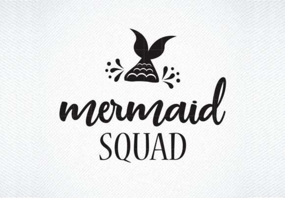 Download Free Mermaid Squad Mermaid Summer Graphic By Svg Den Creative Fabrica for Cricut Explore, Silhouette and other cutting machines.