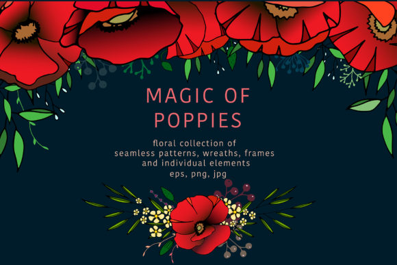 Magic of Poppies Graphic Illustrations By Vera Vero
