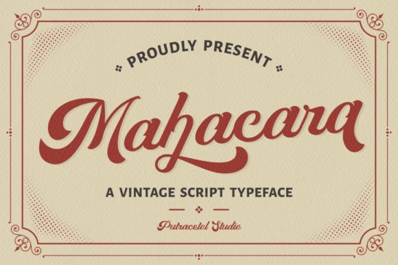 Download Free Mahacara Font By Putracetol Creative Fabrica for Cricut Explore, Silhouette and other cutting machines.