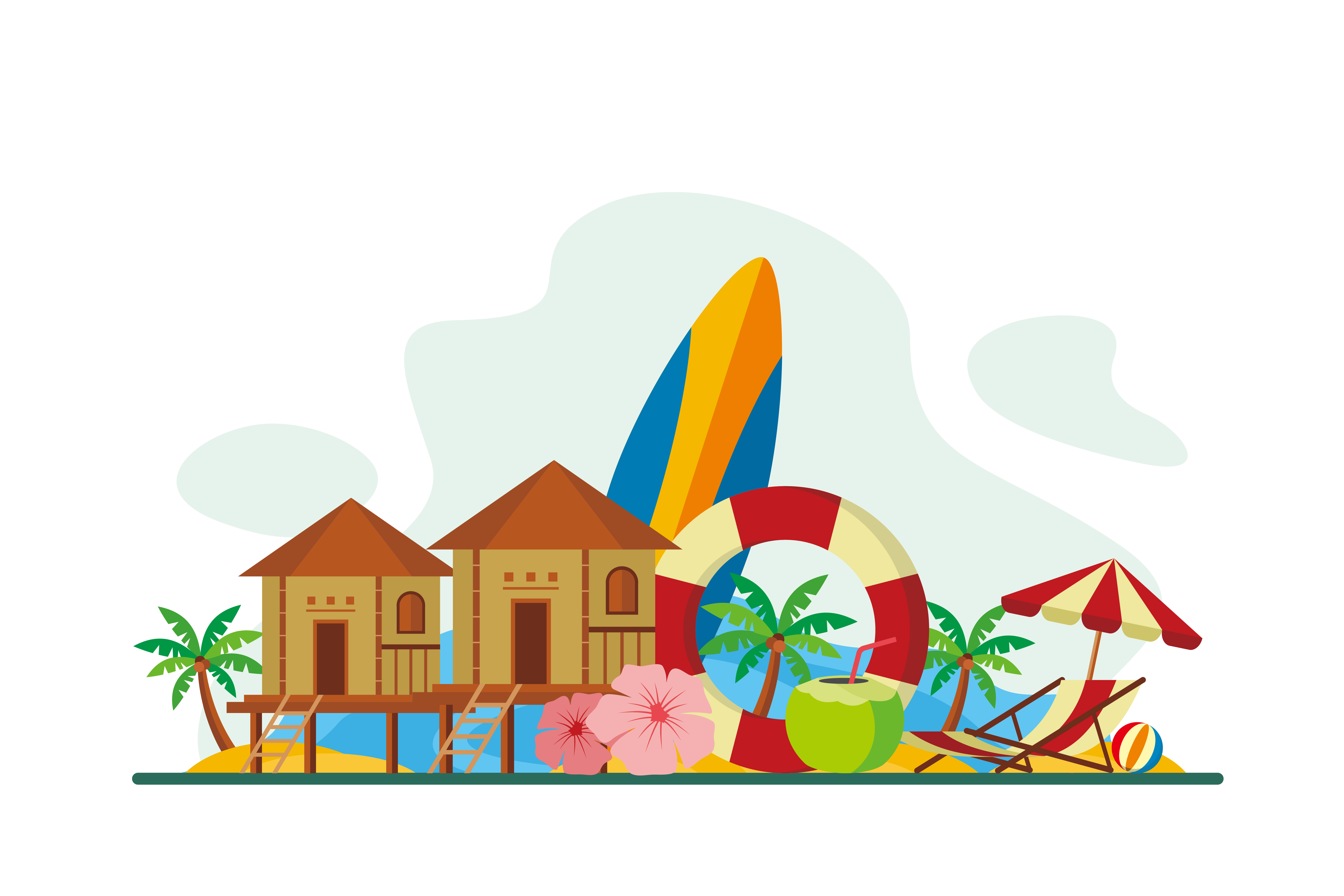 Download Free Maldives Flat Design Illustration Graphic By Chocolartestudio for Cricut Explore, Silhouette and other cutting machines.