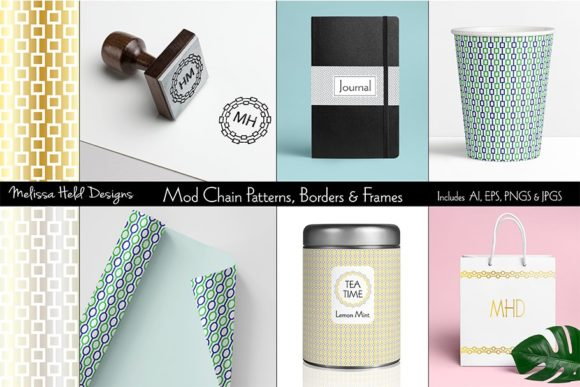 Download Free Mod Chain Patterns Borders Frames Graphic By Melissa Held SVG Cut Files