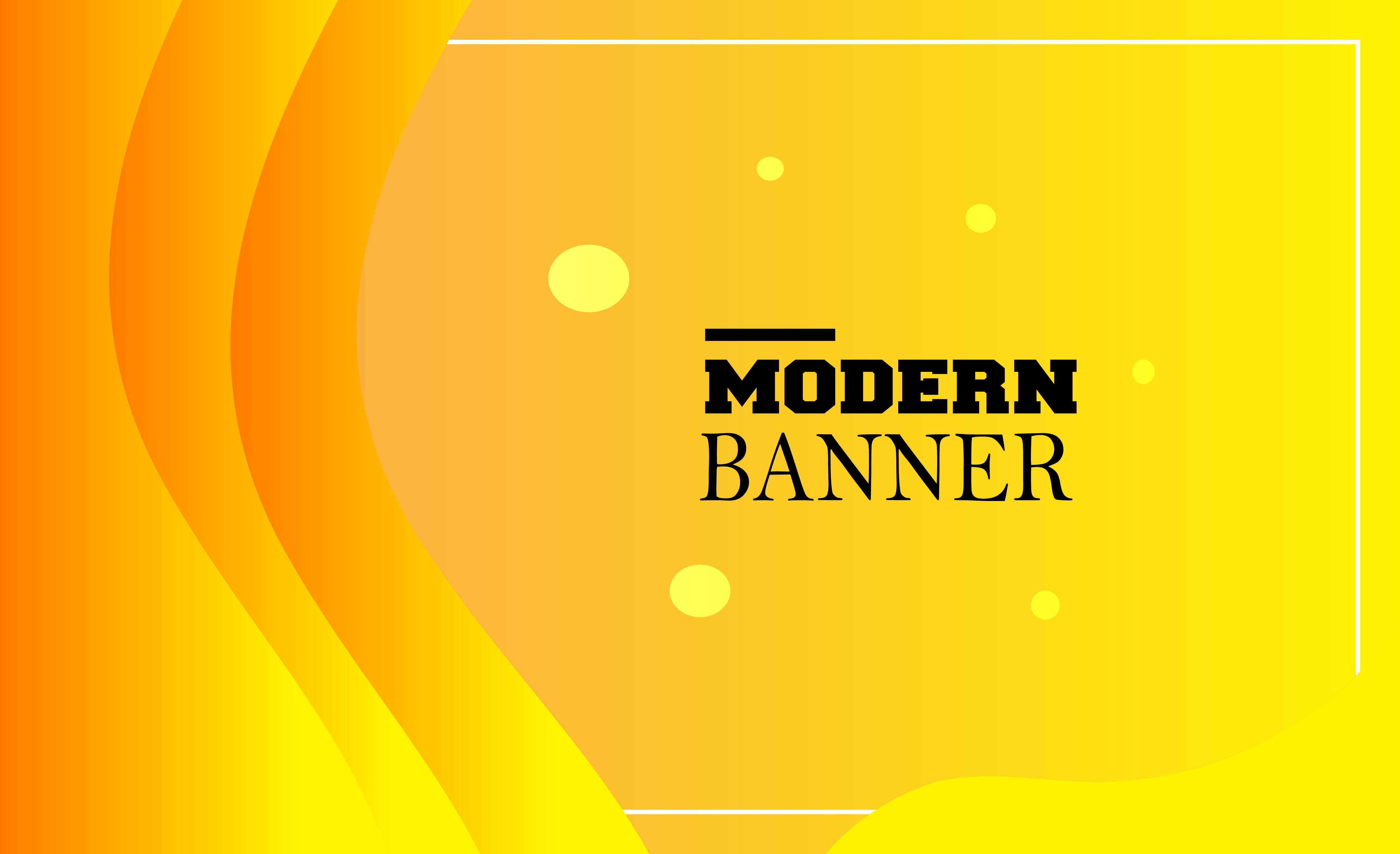 Download Free Modern Banner Graphic By Mahesa Design Creative Fabrica for Cricut Explore, Silhouette and other cutting machines.