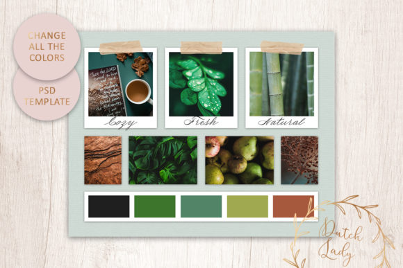Download Free Mood Vision Board Template 11 Graphic By Daphnepopuliers SVG Cut Files