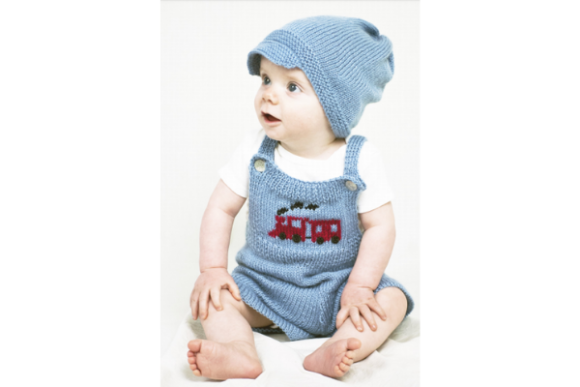 Mr. Conductor Bib Baby Overalls  Pattern Graphic Knitting Patterns By wunderfulwool