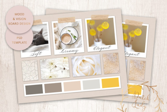 Download Free Psd Mood Vision Board Template 11 Grafik Von Daphnepopuliers for Cricut Explore, Silhouette and other cutting machines.