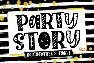 Print on Demand: Party Story Display Font By dmletter31 1
