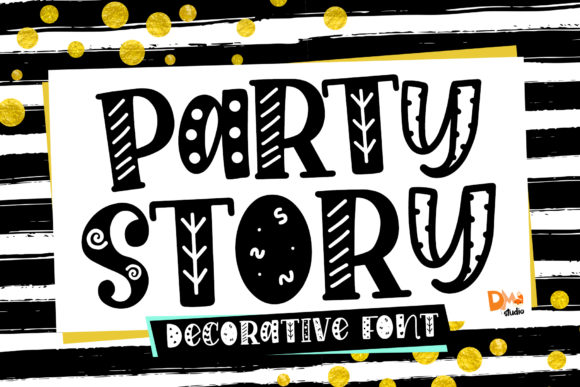 Print on Demand: Party Story Display Font By dmletter31 - Image 1