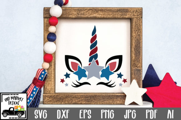 Print on Demand: Patriotic Unicorn Graphic Crafts By oldmarketdesigns