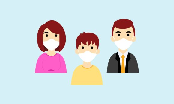 People In Medical Face Mask Or Family Graphic By 2qnah
