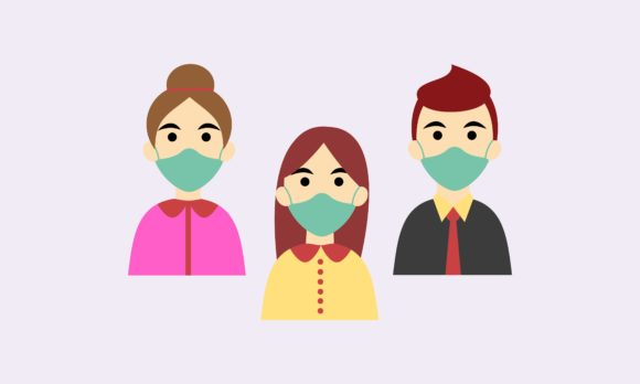 Download Free People In Medical Face Mask Or Family Graphic By 2qnah for Cricut Explore, Silhouette and other cutting machines.