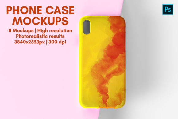 Phone Case Mockup - 8 Views Graphic Product Mockups By illusiongraphicdesign