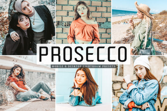 Print on Demand: Prosecco Lightroom Presets Pack Graphic Actions & Presets By Creative Tacos