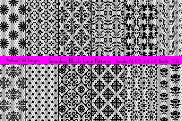 Download Free Seamless Black Lace Patterns Graphic By Melissa Held Designs SVG Cut Files