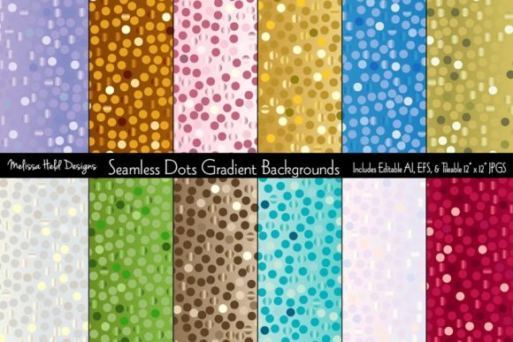 Seamless Dots Gradient Backgrounds Graphic Textures By Melissa Held Designs
