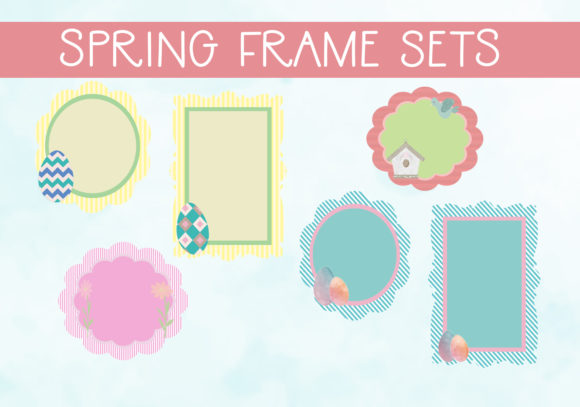 Print on Demand: Spring Frames Set 1 Graphic Illustrations By capeairforce