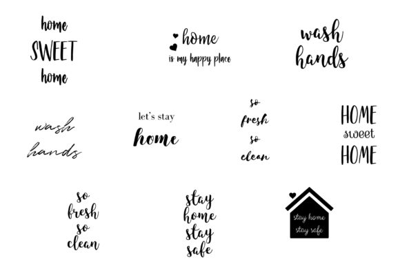 Stay Home Stay Safe Quotes Graphic Crafts By BonaDesigns - Image 3