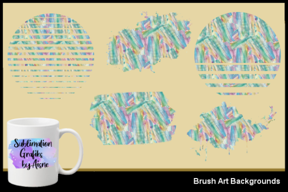 Print on Demand: Sublimation Brush Art Backgrounds Graphic Backgrounds By Aisne
