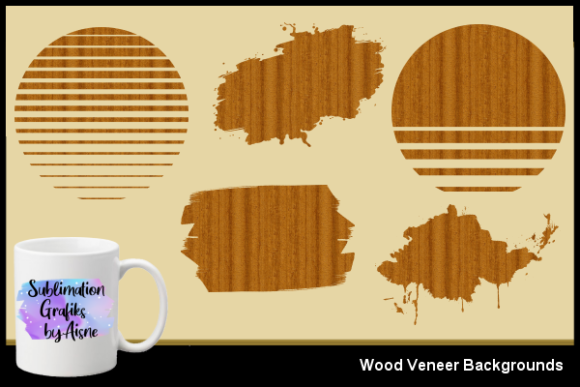 Print on Demand: Sublimation Wood Veneer Backgrounds Grafik Hintegründe von Aisne