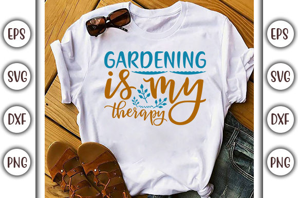Print on Demand: Summer Design, Gardening is My Grafik Druck-Templates von GraphicsBooth