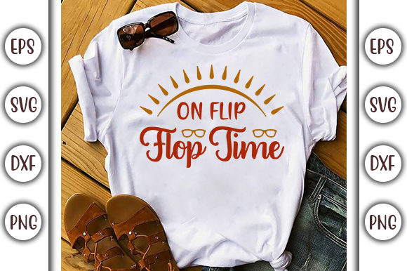 Download Free Summer Design On Flip Flop Time Graphic By Graphicsbooth for Cricut Explore, Silhouette and other cutting machines.
